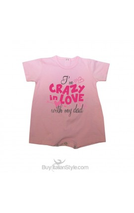 """Baby romper """"I'm crazy in love with my dad"""""""