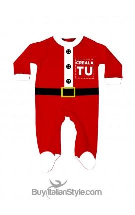 Tutina neonato Babbo Natale Personalizzabile