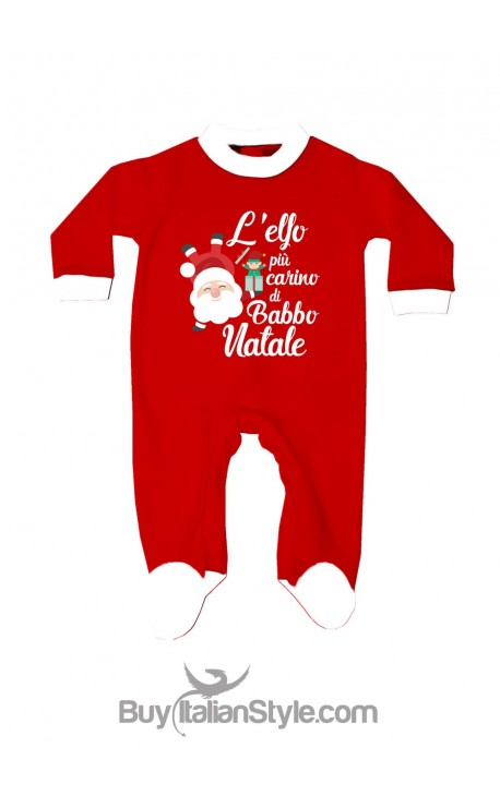 Tutina neonato l'elfo più carino di babbo natale