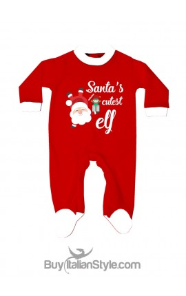 Newborn all in one Santa's cutest elf
