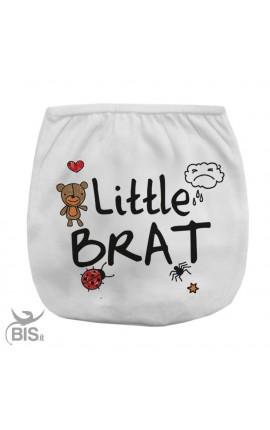 "Diaper cover ""little brat"""