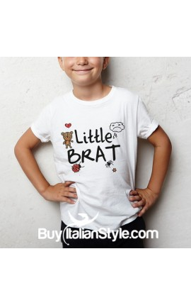 "Short sleeve t-shirt ""little brat"""