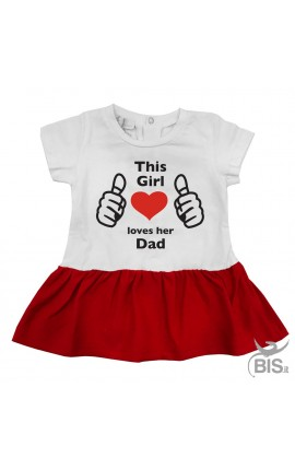 """Baby girl dress """"This girl loves her dad"""""""