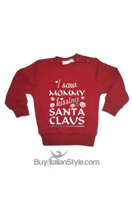 "Baby Sweater ""I saw mom kissing father  christmas"""