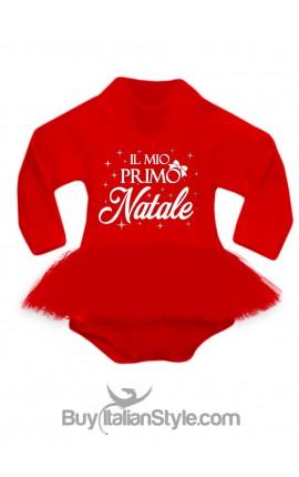 """Abitino neonata con tulle """"il mio primo Natale"""""""