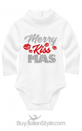 "Turtle neck bodysuit ""Merry KissMas"""
