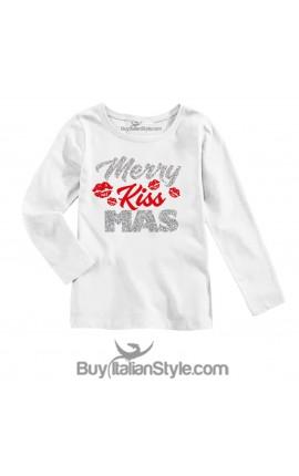 """T-shirt manica lunga """"Merry KissMas"""""""