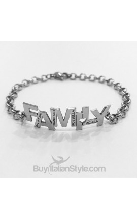 Bracciale family con incisione nomi