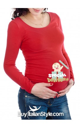 "Maternity t-shirt ""special delivery"""