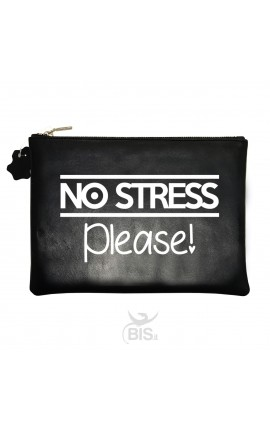 "Pochette in pelle ""No stress please"""