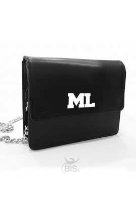 Leather Shoulder Bag with initials