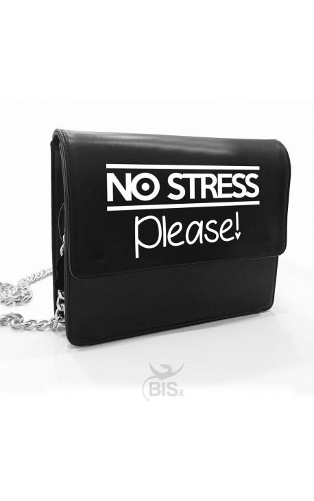 """Leather Shoulder Bag """"No stress Please"""""""