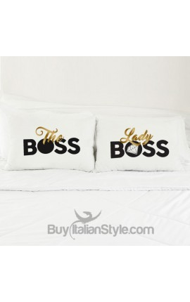 "Love Couples pillowcases ""The boss & Lady boss"""