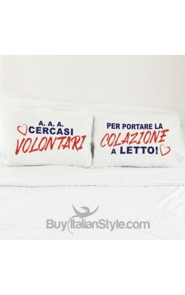 "Love Couples pillowcases ""Breakfast..."""