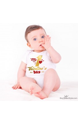 "Baby Bodysuit ""My First Valentine's Day"""