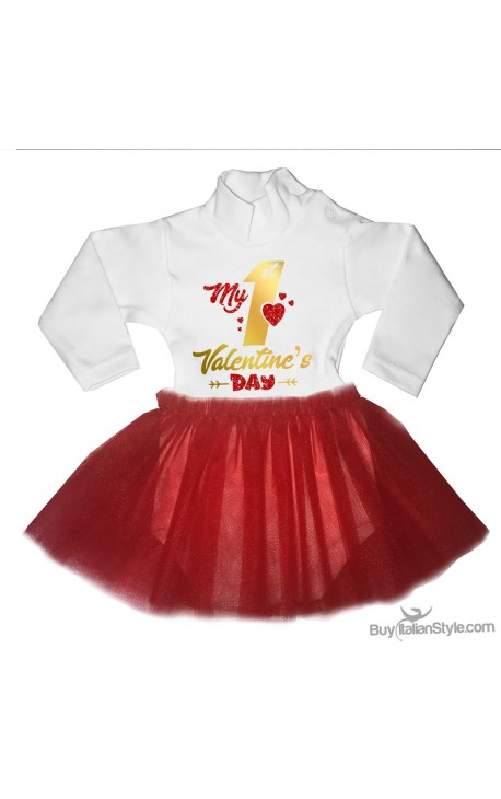 "Tutu Dress ""My First Valentine's Day"""