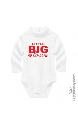 "Baby Neck Bodysuit ""Little big love"""