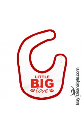 "Baby Bib ""Little Big Love"""