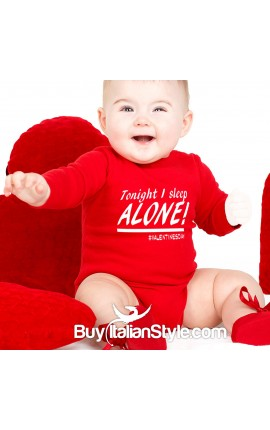 "Baby Neck Bodysuit ""Tonight I sleep alone"""