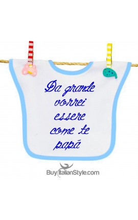 "Baby Bib ""WHEN I GROW UP I..."