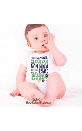"Baby Bodysuit ""I'm Proof Daddy Doesn't Play Video Games ALL the time"""