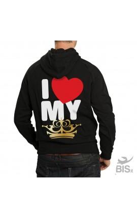 """Men's Hoodie sweatshirt """"King"""""""