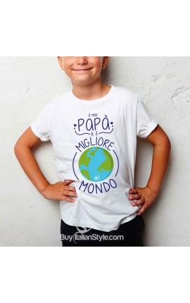 """T-shirt bimbo """"Il mio papà è il migliore del mondo"""""""