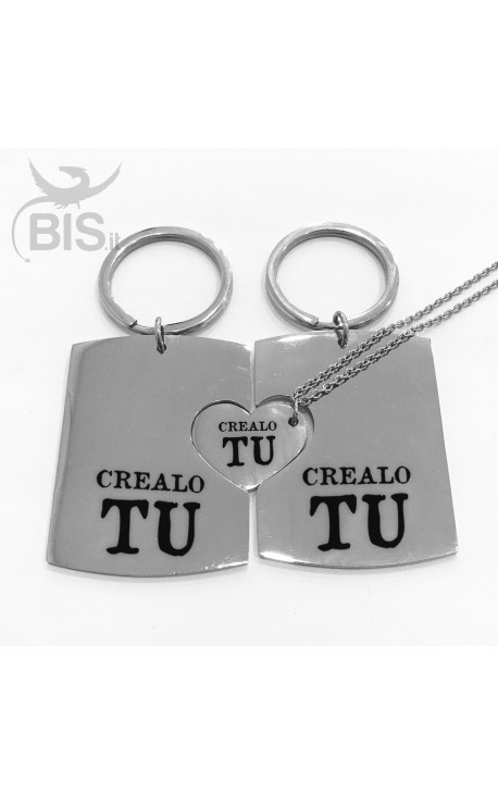 TRIS Personalized Key Rings + Matching Pendant