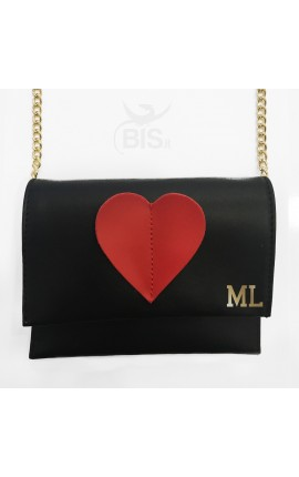 Leather Pochette with initials