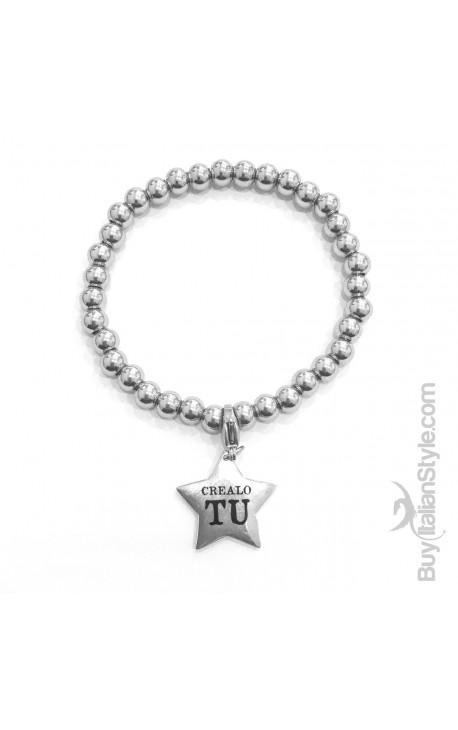 Braccialetto stile tiffany con charm stella Personalizzato