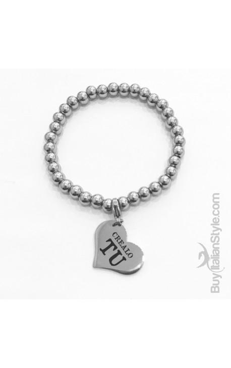 Braccialetto stile tiffany con charm cuore Personalizzato