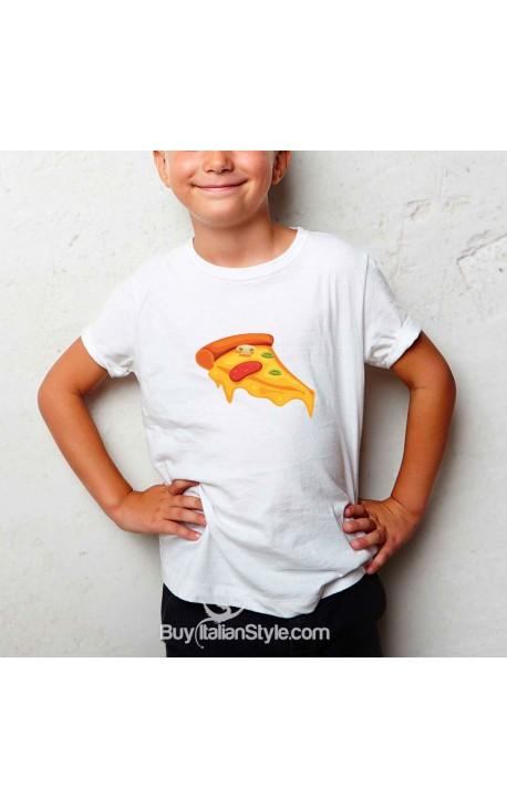"T-shirt bimbo ""Pezzo di pizza"""