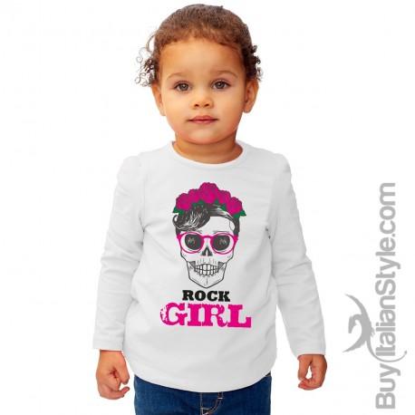 "T-shirt bimba manica lunga ""Rock girl"""