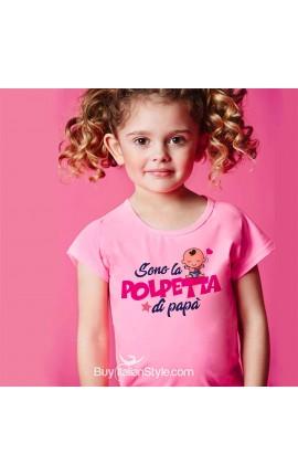"""T-shirt bimba manica corta """"Sono la polpetta di papà"""""""