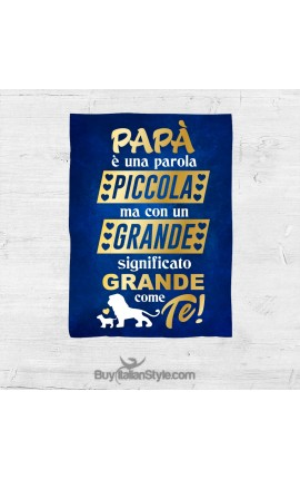 """Personalized Fleece blanket """"To my Dad"""""""