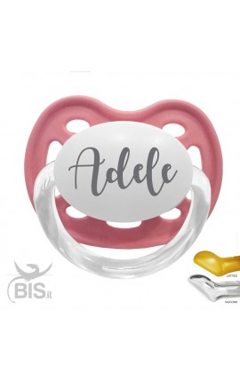 Customizable baby girl crown pacifier with name