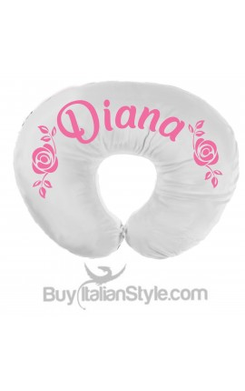 "Personalized Nursing Pillow Layette ""Rose"""