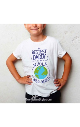 "Boy's T-Shirt ""The Bestest Daddy in the Whole Wide World"""