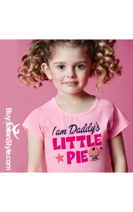 "Half-sleeved T-Shirt ""I am Daddy's Little Pie"""