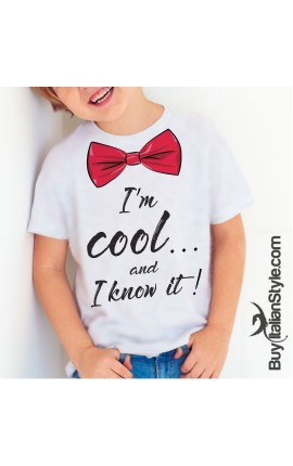 """Short sleeve t-shirt """"I'm cool ... I know it"""""""