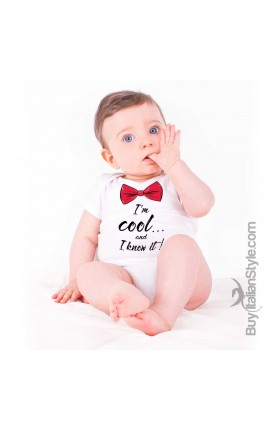 "Newborn Bodysuit ""I'm cool and I Know it"""