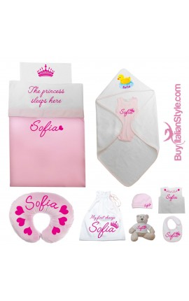"Personalized Summer Layette ""Prince/Princess"""