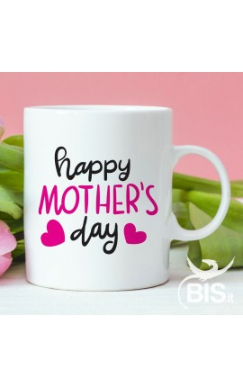 "Tazza con scritta ""Happy mother's day"""