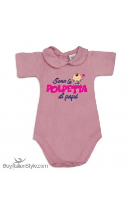 "Body neonata con colletto ""Polpetta di papà"""