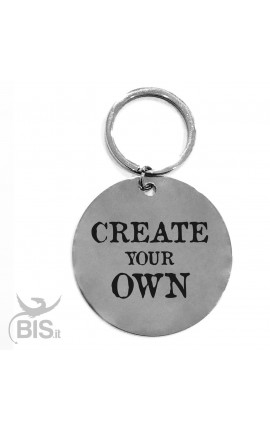 "Personalized Round Keyring ""Create Your Own"""