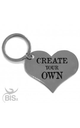 """Personalized Heart Shaped Keyring """"Create Your Own"""""""
