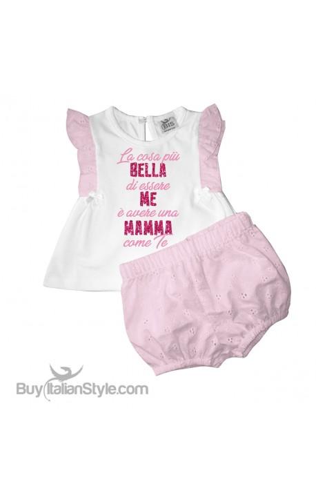 """Completino neonata """"La cosa più bella di essere me è avere una mamma come te"""""""