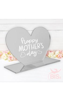 """Targhetta a cuore in plexiglass """"Happy mother's day"""""""