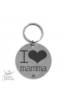 "Portachiavi acciaio ""I LOVE MAMMA"""