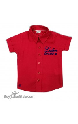 "Personalized Boy's shirt ""Latin Lover"""